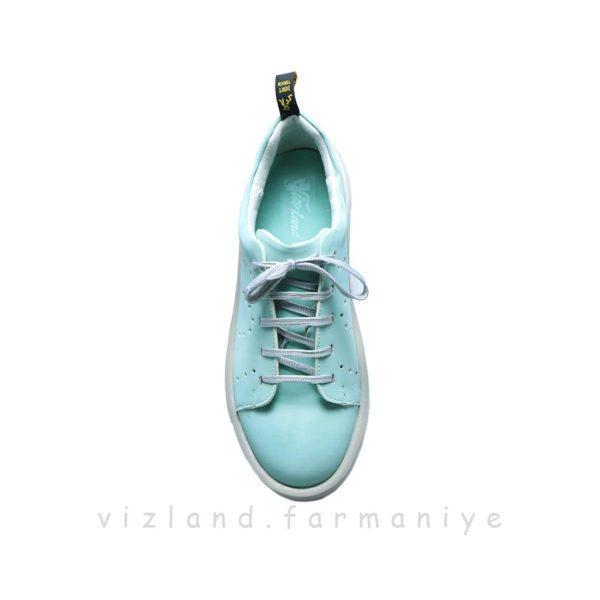 کفش کتونی سنسور سبز آبی نمای درونی