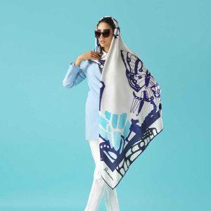 روسری آبی بنفش