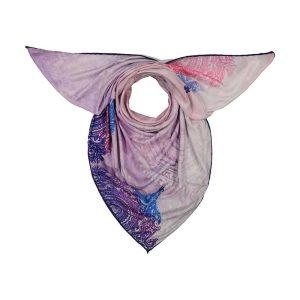 روسري بته جقه صورتی آبی