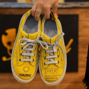 کفش کتونی سنسور ارور زرد